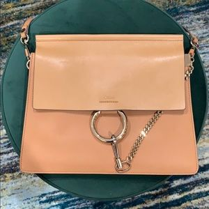 Chloe Faye shoulder bag in calfskin & suede.